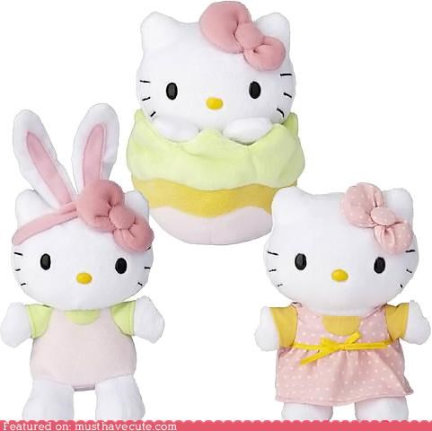 bunny easter egg hello kitty pastels pink - 4648427776