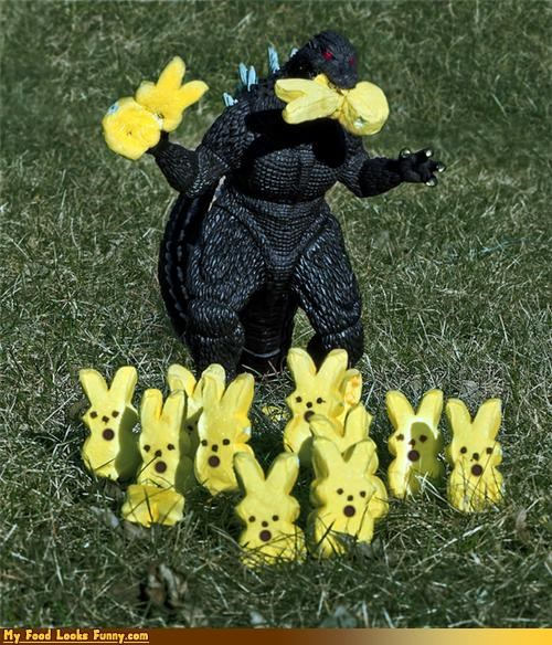 bunnies godzilla massacre peeps toy - 4648430336