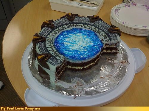 cake detailed intricate sci fi Stargate