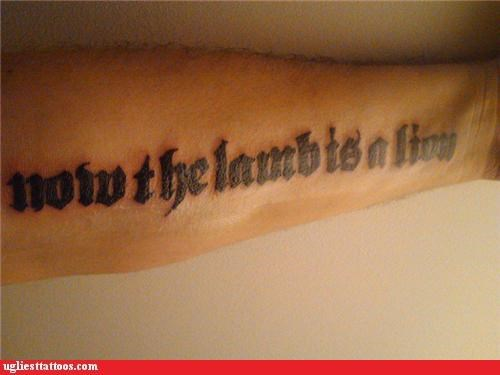 lions wtf tattoos lambs funny - 4648531712