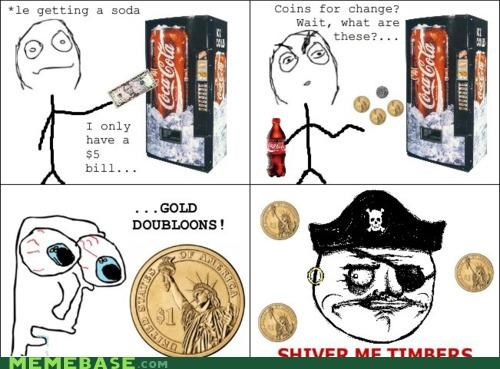 dubloons me gusta money Rage Comics timbers - 4648611328