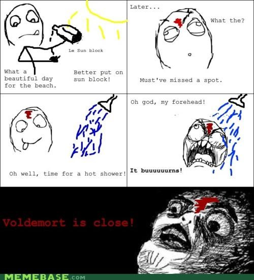 Harry Potter,occlumency,Rage Comics,raisins-super-fuuuu,scar,voldemort