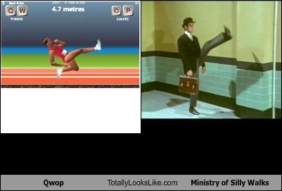 games,John Cleese,Memes,ministry of silly walks,monty python,QWOP