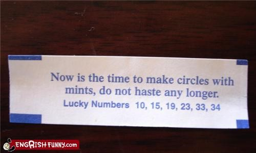 circles,fortune cookie,make-haste