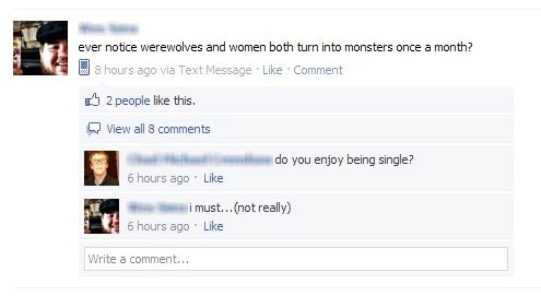 werewolves periods women failbook