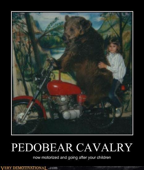 cavalry motorcycle pedobear - 4650659584