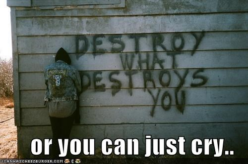 cry,destroy,Sad,wall