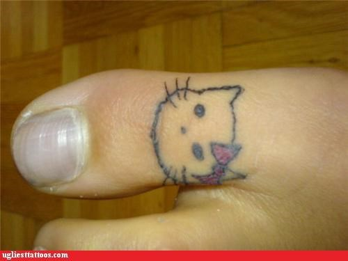 animals Cats foot tats hello kitty pop culture - 4651516416
