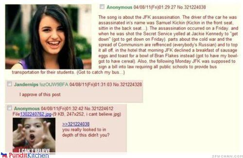 conspiracy theories FRIDAY john-f-kennedy-jr political pictures Rebecca Black - 4651615232