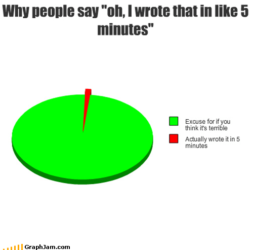 excuses papers Pie Chart school writing