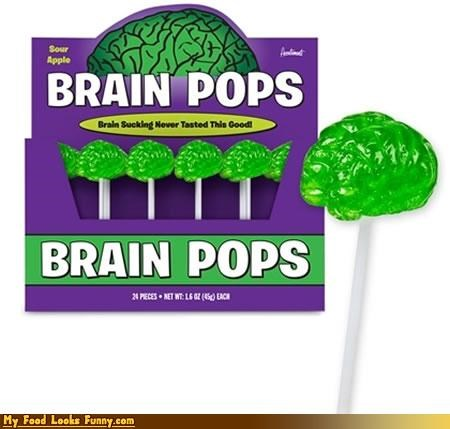 brain candy green lollipop stick sugar - 4651701248