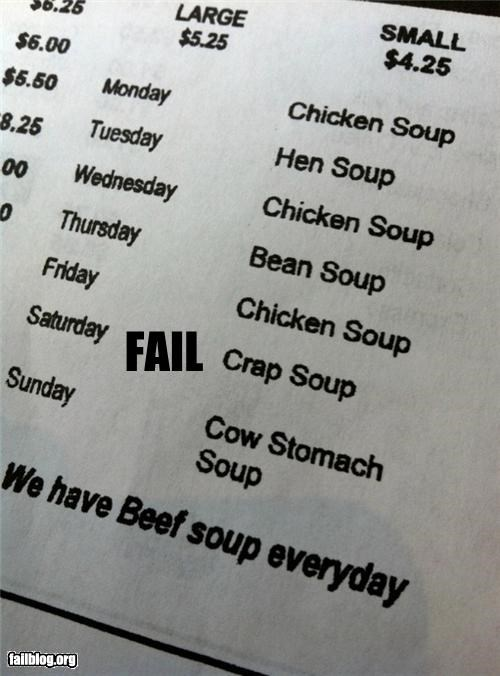 crap ew FAIL menu - 4651842048