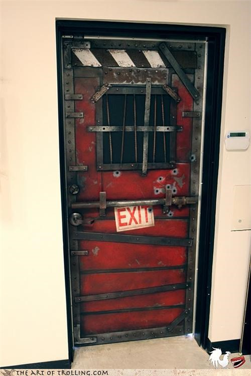 door exit IRL l4d Left 4 Dead Office video games zombie - 4651879680