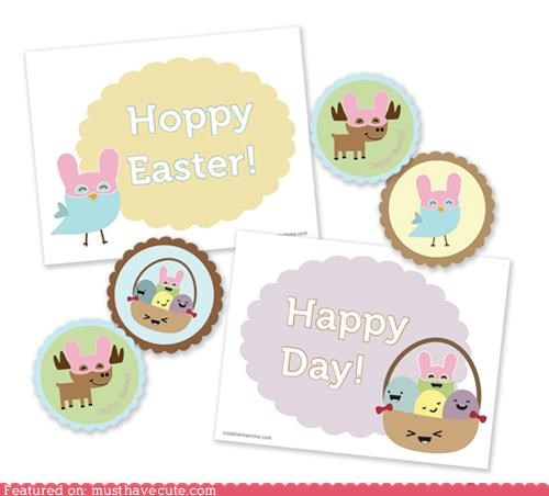 cards easter paper placecards printable stickers tags