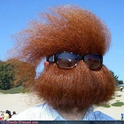awesome beard cousin it crazy sunglasses weird wtf