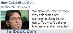 Ad,Charlie Sheen,quitting,winning