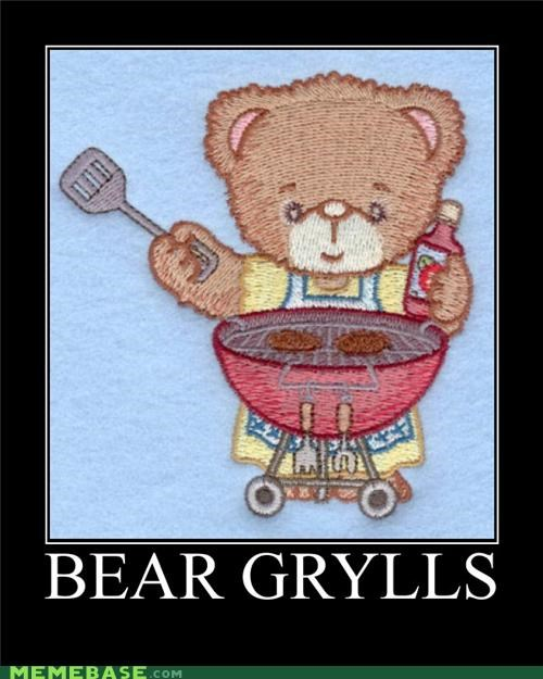 bear,bear grylls,grill,its-ketchup,puns