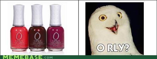 animemes,nail polish,o rly,Owl,Rage Comics
