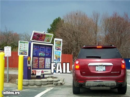 drive thru failboat food g rated irony license plate - 4652194560