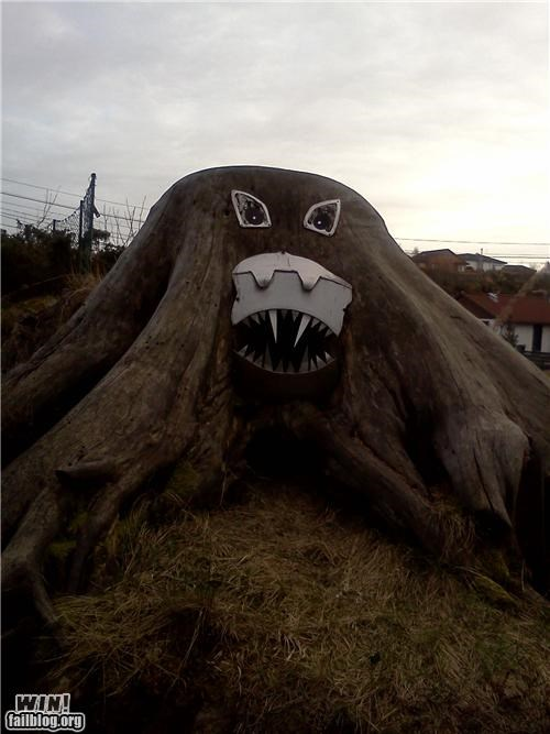 art,hacked,monster,nature,scary,tree