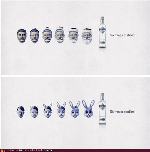 advertisement,hitler,lenin,vodka