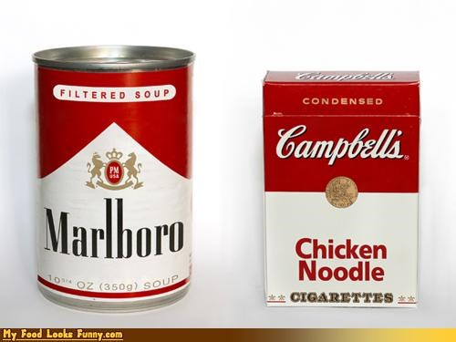 cigartettes design labels MSG nicotine soup