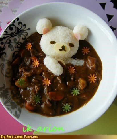 bath bear curry relaxing rice sauce