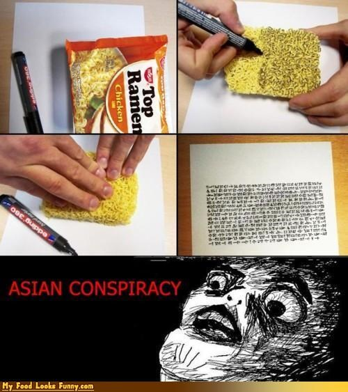 asian conspiracy,noodles,ramen,scribbly
