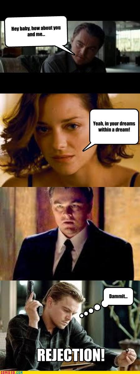 Inception,leo dicaprio,rejection,sad face
