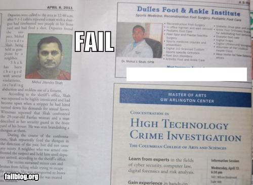 ads failboat juxtaposition mugshots newspaper oops - 4652975872