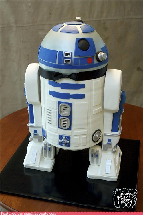 bow tie cake epicute grooms-cake r2d2 star wars - 4653227264