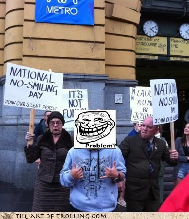 IRL problem Protest smiling - 4653335040