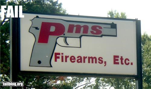 PMS Guns Store is located near Concord, NC. It closed not too long ago, but the sign is still there.