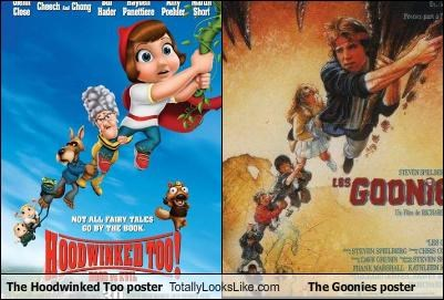Hoodwinked Too movies posters the goonies