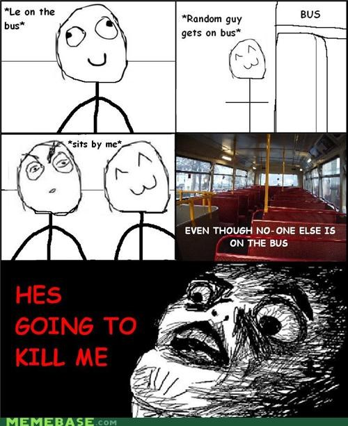 alone bus murder Rage Comics random - 4654680320