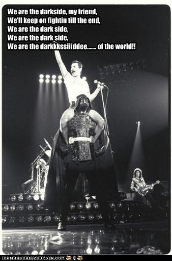 darth vader,freddie mercury,funny,Hall of Fame,Music,queen,sci fi,star wars