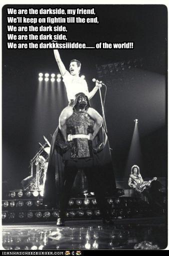 darth vader freddie mercury funny Hall of Fame Music queen sci fi star wars - 4654698752