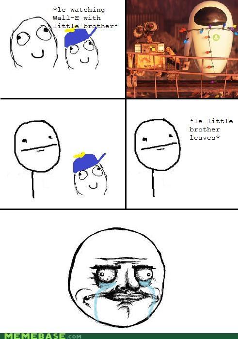 crying,Eve,me gusta,pixar,Rage Comics,wall.e