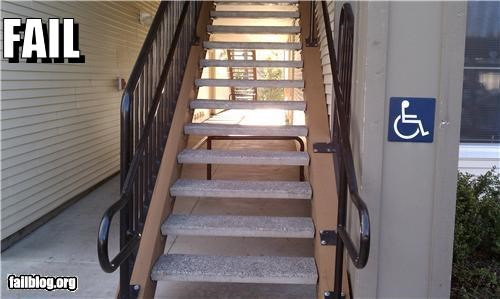 accessibility failboat g rated handicap signs stairs - 4654893824