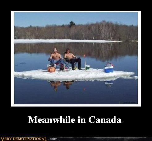 Canada fishing ice Meanwhile no shirt - 4654911744