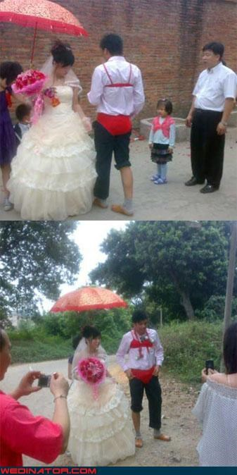 asia,funny wedding photos,groom,underwear