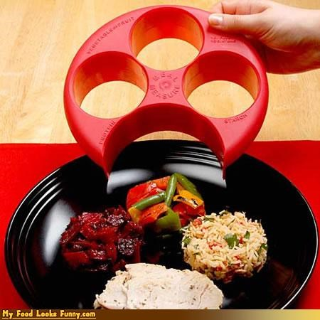 healthy plastic portion control serving size template - 4654971392