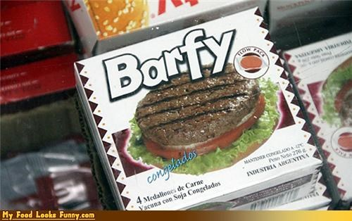barfy burger gross meat packaged patty - 4654997248