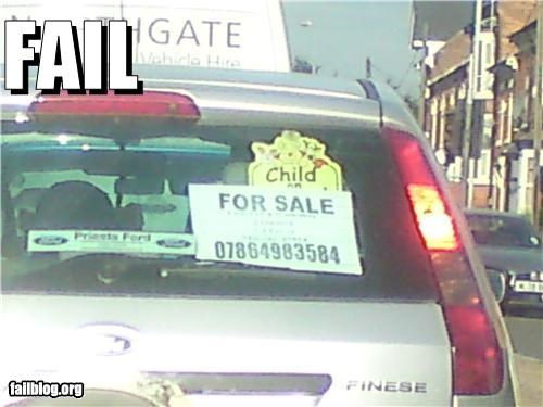 cars failboat for sale g rated kids oops placement signs - 4655025408