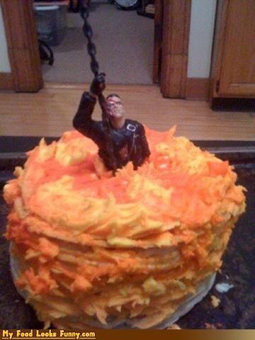 arnold schwartzenegger,cake,frosting,Movie,t2,terminator 2