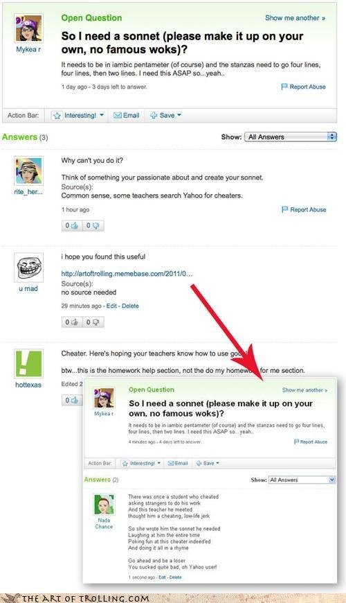class,famous,mykea,sequel,sonnet,Yahoo Answer Fails