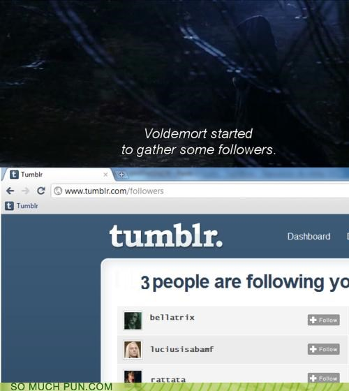 death eaters,double meaning,followers,gathering,Harry Potter,tumblr,voldemort