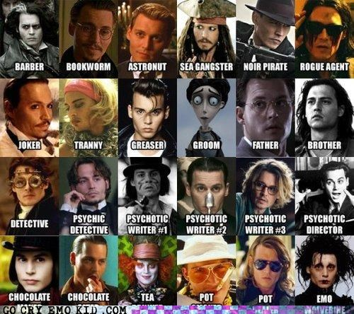 Johnny Depp movies noir pirate rolls - 4655265536