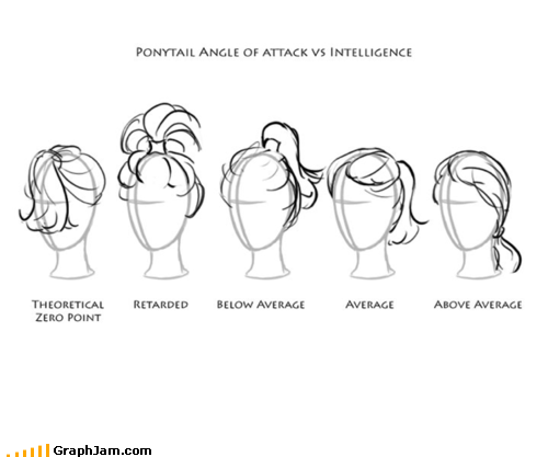 fashion hair infographic intellect ponytails - 4655343104