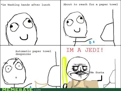 bathroom,Jedi,me gusta,paper,Rage Comics,towels